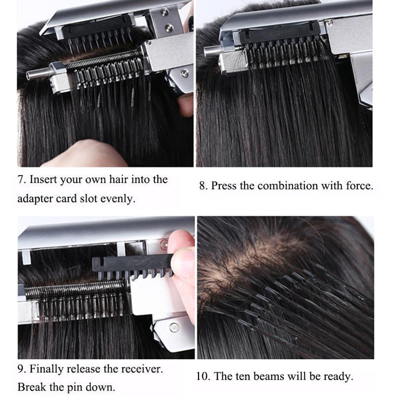 High End Professional 6d No Trace Hair Extension Machine High