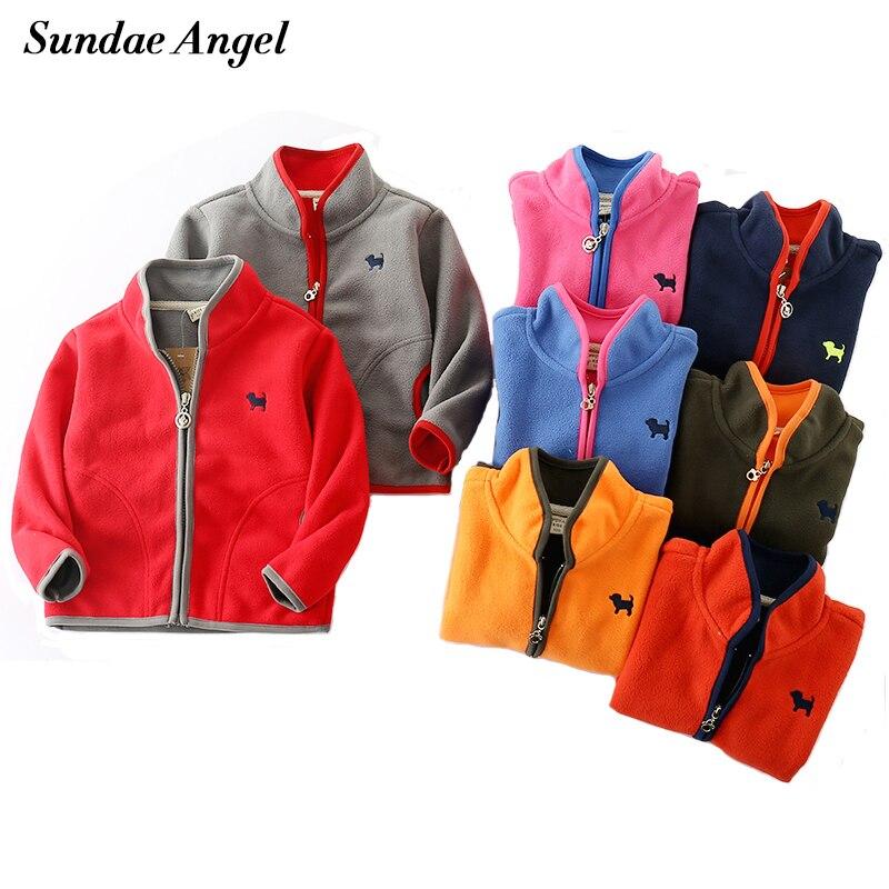 a34a31e3c95 Sundae Angel Baby Girls Coats 2018 Polar fleece Jacket for Boys Kids Warm  Print Dog Pattern