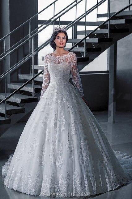 Aliexpress.com : Buy Elegant Vestido De Novia Vintage White Ball ...