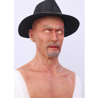 Artificial Simulated Fake Silicone Europe Man Face Human Skin For Women To Be Man Crossdresser Masquerade Halloween Breast Forms