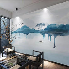Creative wallpaper simple abstract ink landscape background wall decoration painting professional custom mural photo