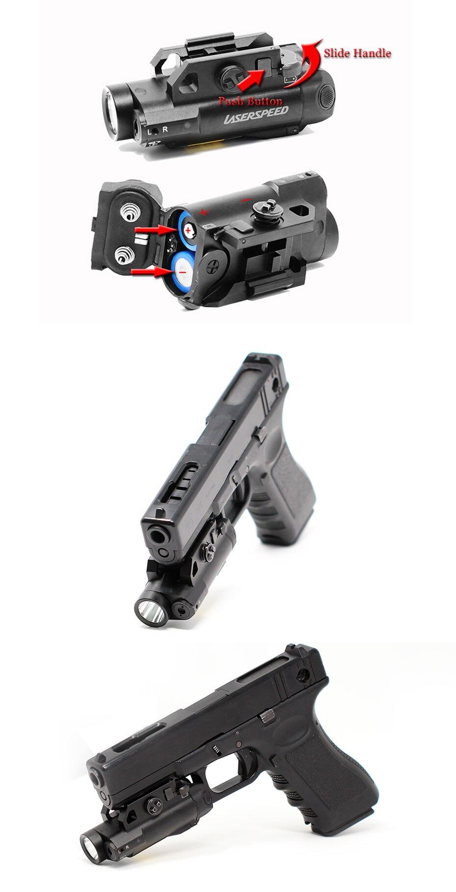 Laserspeed Compacto Picatinny Luz LEVOU Luz Arma