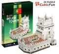 Paper model,Children's DIY toy,Paper craft,Birthday gift,3D educational Puzzle Model,Card model,Belem Tower