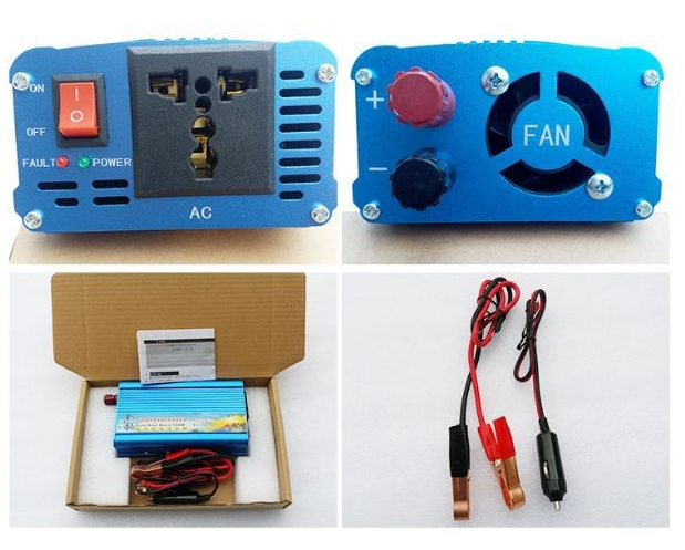 Pure Sine Wave Solar Inverter 300W 24V 220V DC to AC Power Inverter Solar Panel Converter 12V/24/48V/110V to 110V/120V/230V/240V
