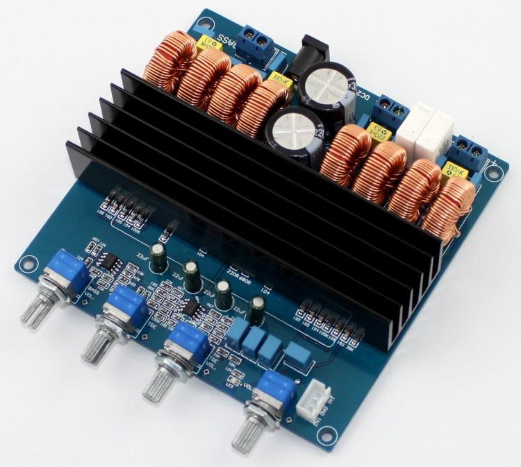цена на DC24V-DC32V TDA7498 200W+100W+100W 2.1 channel digital power amplifier board Class D Amplifier Board Beyond TPA3116