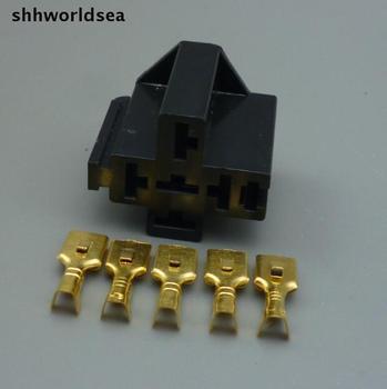 Shhworldsea 5 P автомобильные релейные розетки 5 Pin автомобильный Автомобильный держатель для крепления серии реле держатель Автомобильный релей...