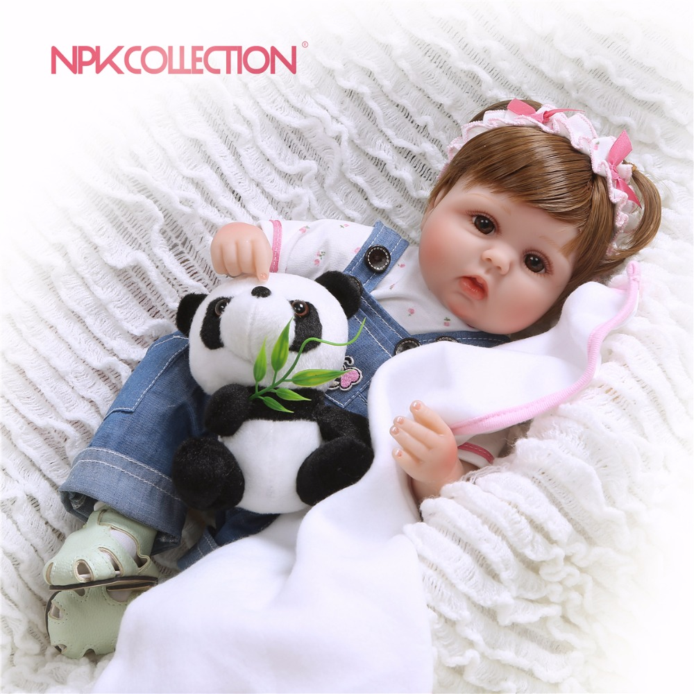 NPKCOLLECTION Silicone Reborn Baby Dolls Baby Realistic Alive Boneca Bebe Lifelike Real Girl Doll Reborn Birthday Christmas