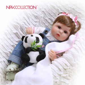 NPKCOLLECTION Silicone Reborn Baby Dolls Baby Realistic Alive Boneca Bebe Lifelike Real Girl Doll Reborn Birthday Christmas(China)