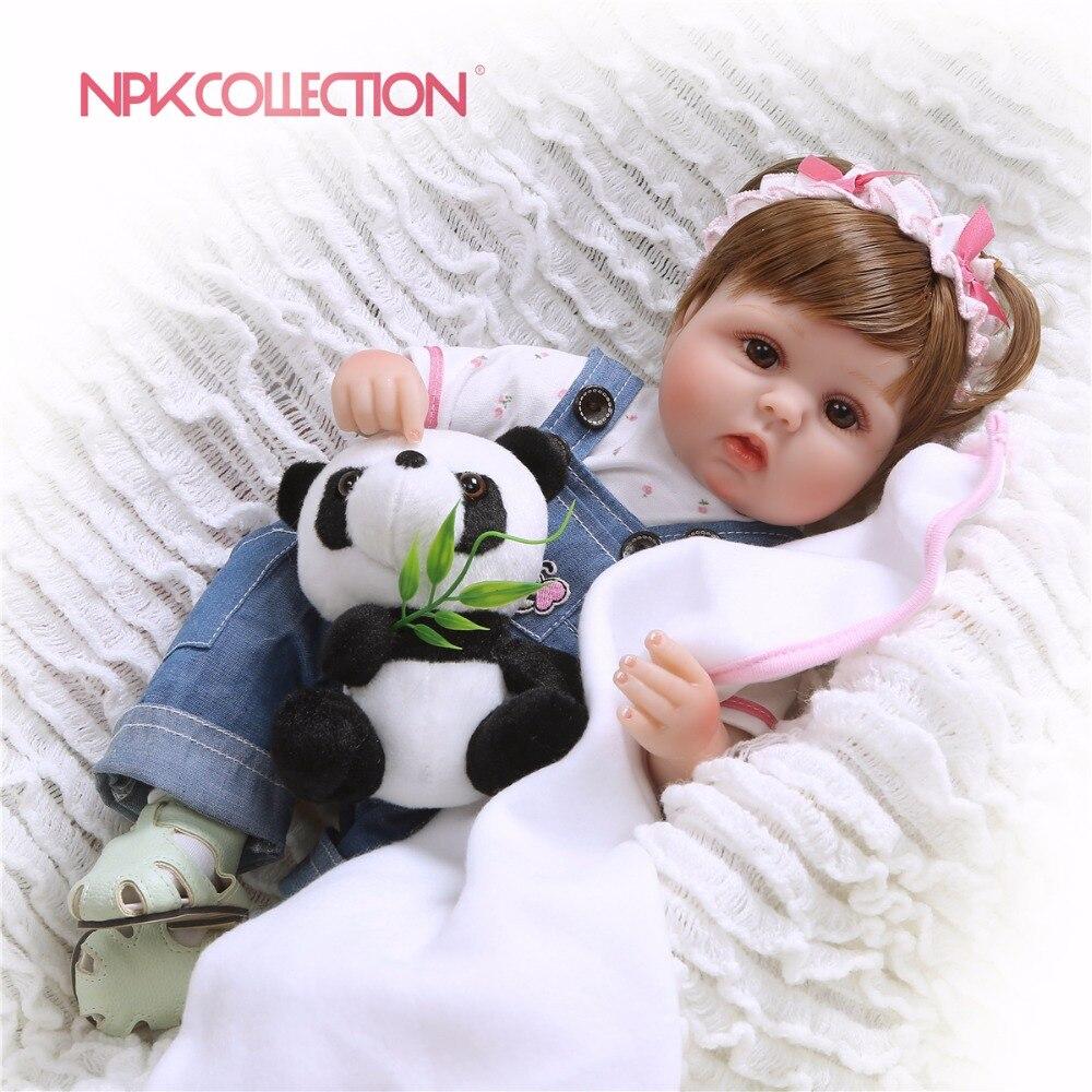 NPKCOLLECTION Silicone Renascer Baby Dolls Bebê Realistas Vivo Boneca Bebe Reborn Lifelike Boneca Menina Real de Aniversário Do Natal