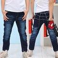 2016 тенденция 2-10 Т ребенок мальчик джинсовые брюки детские брюки джинсы брюки дети мальчик шаровары паук чистые брюки днища