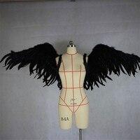 Ангел Пернатый крылья Хэллоуин Дьявол для взрослых фотографии крылья большой вечерние косплей реквизит модели нижнего белья показа