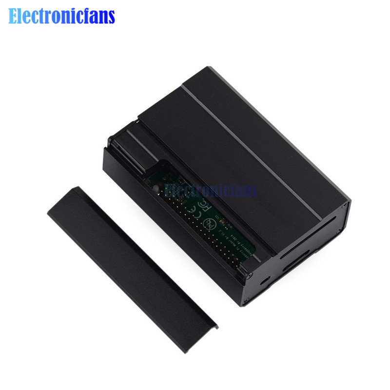 For Raspberry Pi 3 Model B Pi 2 Model B /& B Premium Aluminum Alloy Metal Case