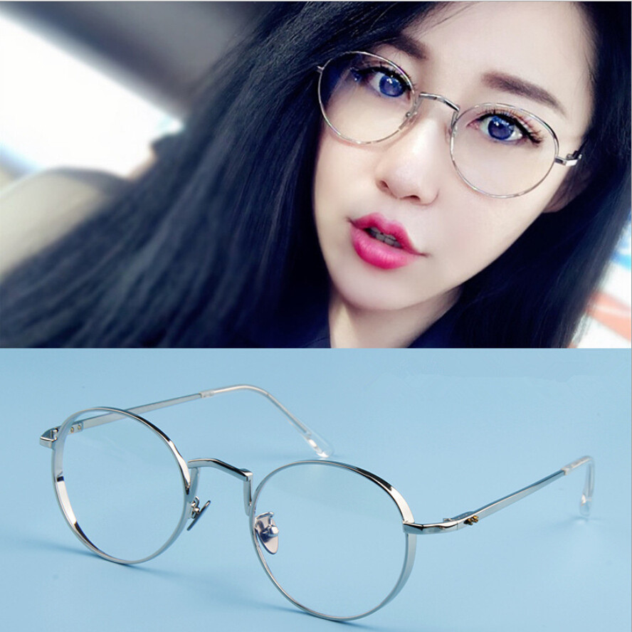 retro small round mens glasses frames women grade point clear eyeglasses frame vintage spectacle eyewear metal men optical lens in eyewear frames from - Womens Metal Eyeglass Frames