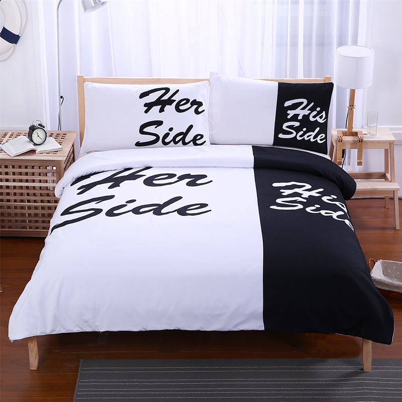 Home Textile Europe And The European Three Set Bedding Printing Quilt Couple Oversized Comfortable No Bed Linen His&her Side