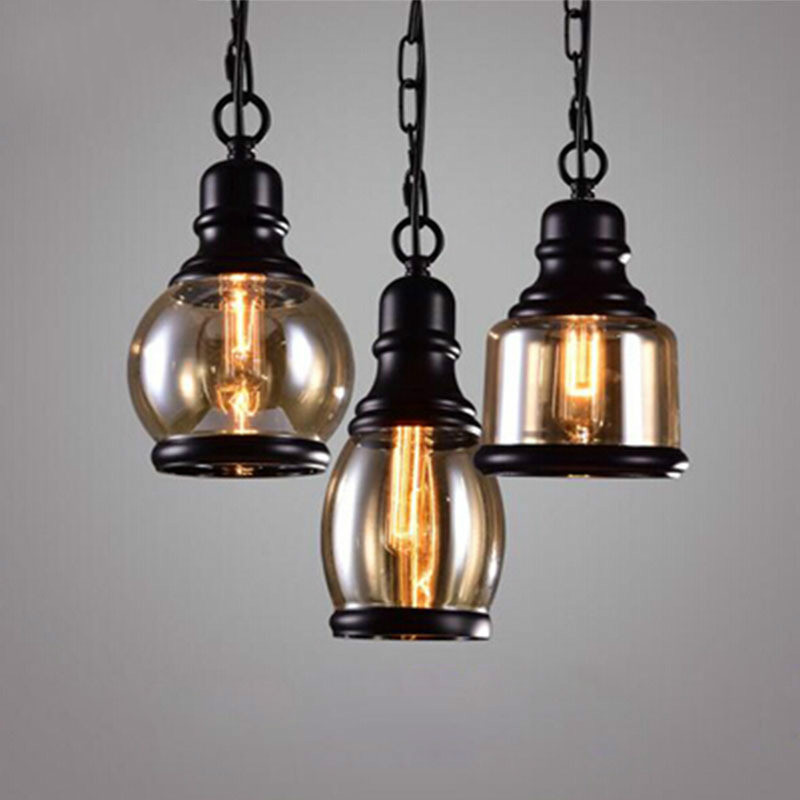E27 Loft pendentif lumière Loft Style Lustres E Pendentes Lustres enfants chambre Led éclairage Antique Style pendentifs luminaires