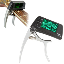 Meideal TCapo20 Protable Bass / Guitar Tuner & Capo with 1.6 Inch LED Screen and High Sensitivity & Accuracy