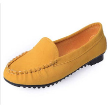 2017 women breathable casual single shoes flat heel Moccasins scrub plus size casual slip on loafer driving shoes big size
