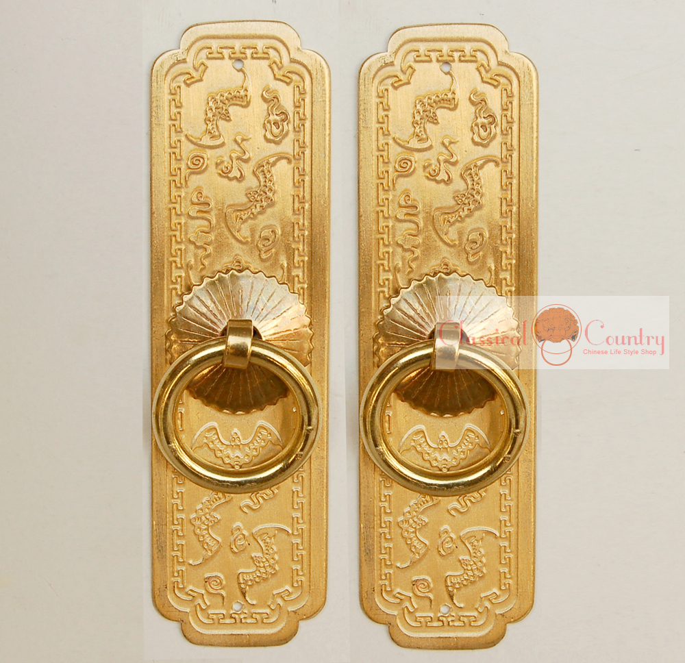 A Pair Of Handles Chinese Furniture Brass Hardware Cabinet Door Strip Pull  Handle Knob 10 Cm In Cabinet Pulls From Home Improvement On Aliexpress.com  ...