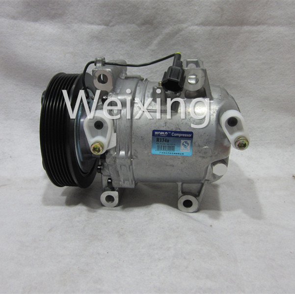 Car air conditoning compressor for Nissan Frontier Navara D40 2.5TD pulley PV7 A42011A0702100 A42011A0702200 A42011A070200