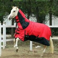 Зимняя одежда для скачек, утолщенные теплые хлопковые коврики для лошадей, ветрозащитные съемные шлейки для лошадей