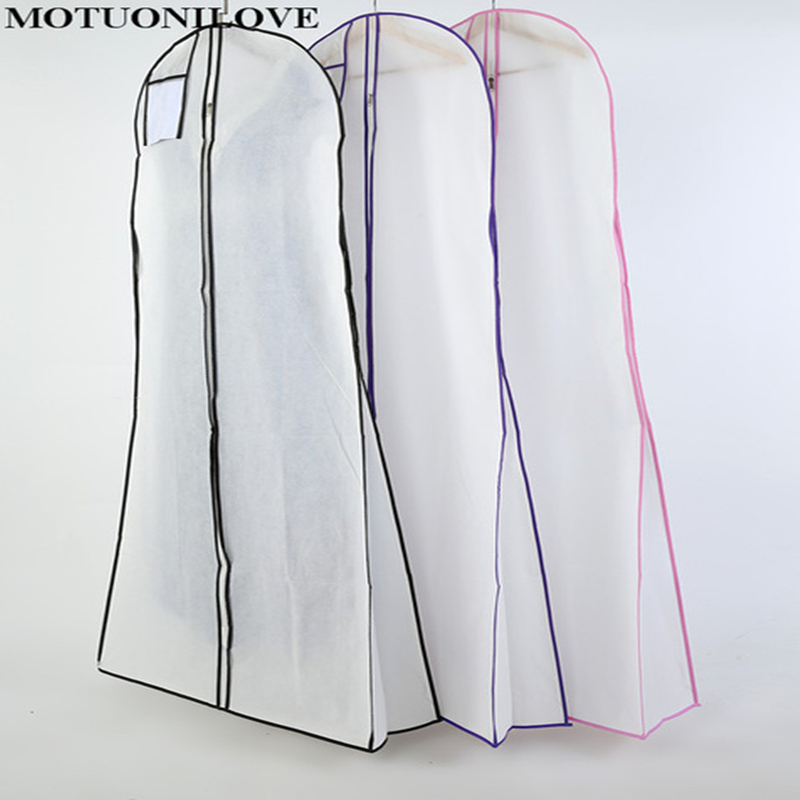 Home & Garden Clothing Covers High Quality Double Sided Non Woven Multi Purpose For Wedding Dress Dust Cover Proof Bag Garment Storage Bag M0811 Print Logo