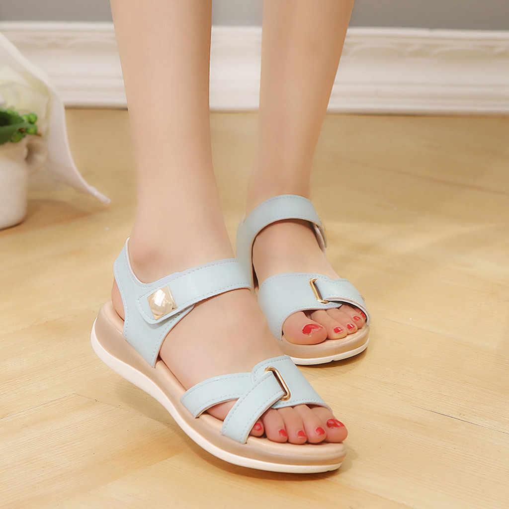 SAGACE damskie buty sandały damskie 2020 damskie jednokolorowe uniwersalne sandały letnie oddychające modne buty w stylu Casual