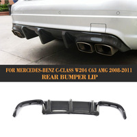 For W204 Carbon Fiber Rear Diffuser Lip For Mercedes Benz W204 C63 AMG Sedan 4Door 2008 2011 Rear Bumper Diffuser