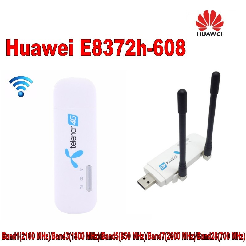 Unlocked New Huawei E8372 avec antenne 4g LTE 150 Mbps Sans Fil USB WiFi Modem et 4g USB WiFi dongle PK E8278 E8377