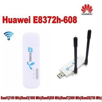 Unlocked New Huawei E8372 with antenna 4G LTE 150Mbps Wireless USB WiFi Modem & 4G USB WiFi Dongle PK E8278 E8377