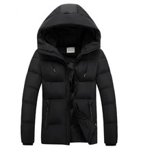 GNZK 2017 winter jackes men and boys Both sides wear Hooded  jacket outdoor Thicker warm coat  parka size S-4XL