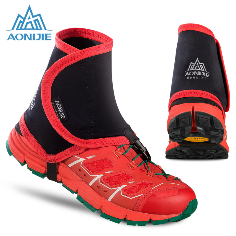 Aonijie Low Trail Running Gaiters Protective Wrap Shoe Covers Pair For Men Women Outdoor Prevent Sand Stone sahoo 45516 outdoor cycling sunproof polyester sleeves covers black white pair xxl