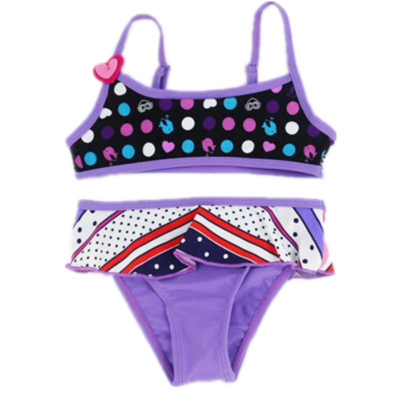 df73f06da Baby Girl Swimwear Two Pieces Swimsuit for Girls Kids bikini set biquini  infantil baby girl bathing suit Children swim suit 3-8