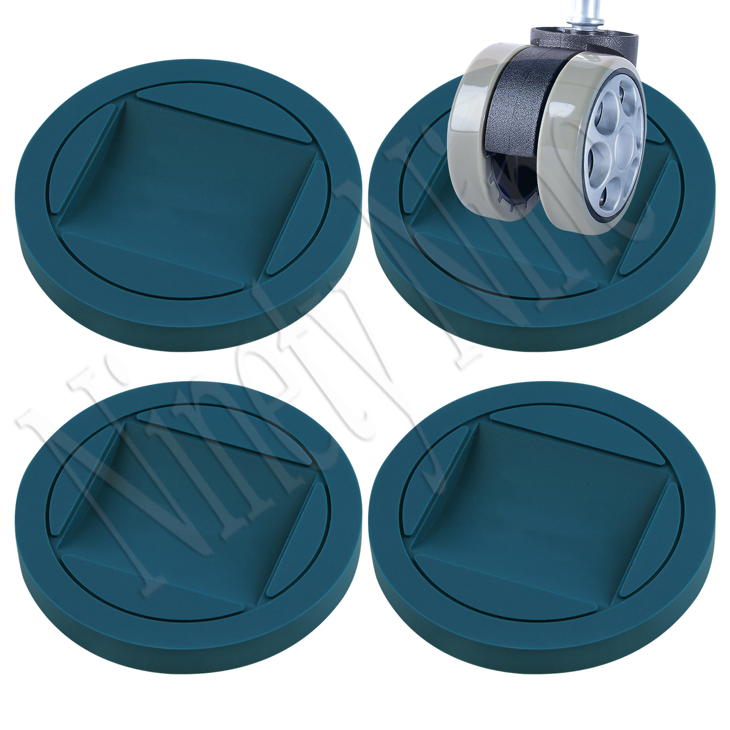 4PCS Rubber Furniture Cups  Premium Caster Cups Furniture Coasters Bed Stoppers Floor Protectors For All Floors Wheels