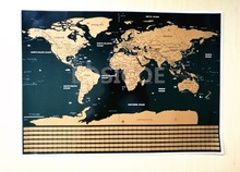hot deal buy high grade world flag version scratch map wall stickers home decor multiple sizes travel scratch off word map home decor
