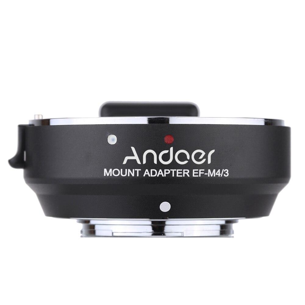 Andoer real sociedad lens EF MFT Electronic Aperture Control Lens Mount Adapter for Canon EF EF