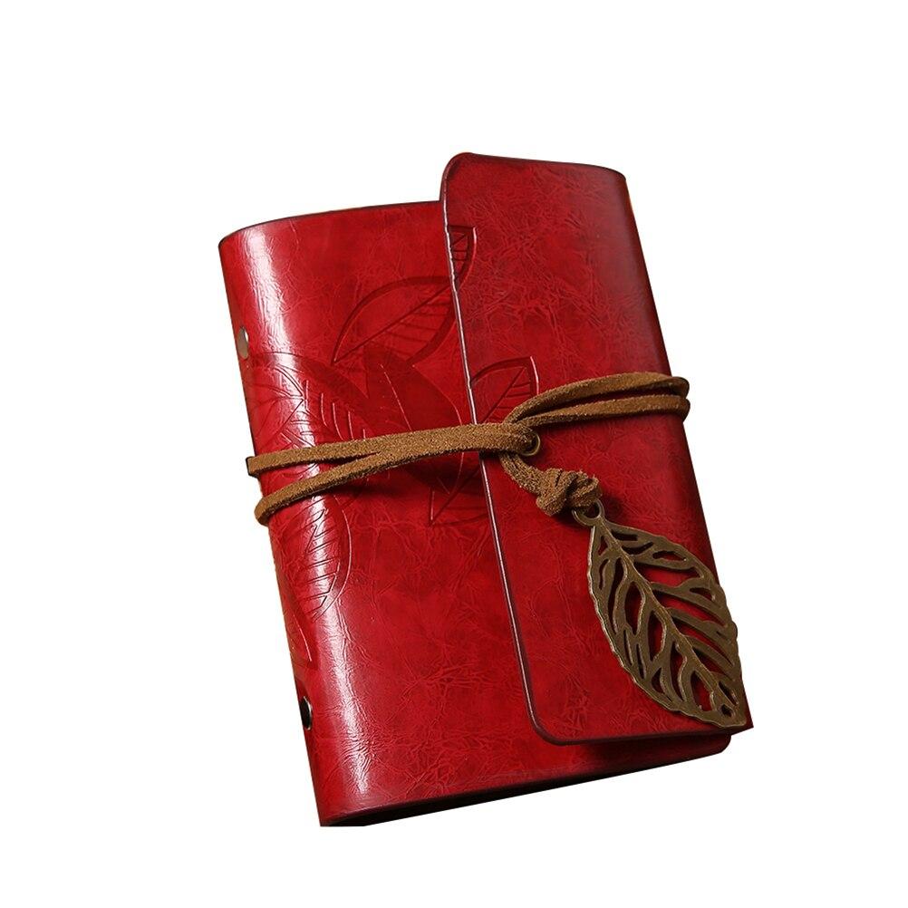 Leaf Design Imitation Leather Card Pack Holder Card Protector Bag (Wine Red)