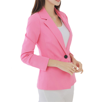 2018 New Plus Size Womens Business Suits Spring Autumn OL Women Blazers Jackets Short Slim Long