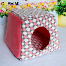 New Winter Warm Cat House Coral Fleece Comfortable Bed For Cats Pet Puppy Mat Kennel Soft Foldable Kitten