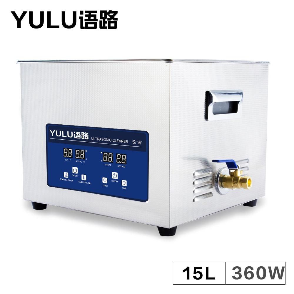Digital 15L Ultrasonic Cleaner Bath Auto Parts Circuit Board Instrument Tableware Glassware Electronic Heater Ultrasound Washing