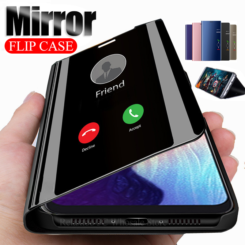 Mirror Flip Case For <font><b>samsung</b></font> <font><b>galaxy</b></font> <font><b>a50</b></font> a70 Phone stand Cover on the Sumsung Galax A10 A20 A30 A40 m10 m20 m30 A60 A80 A90 coque image