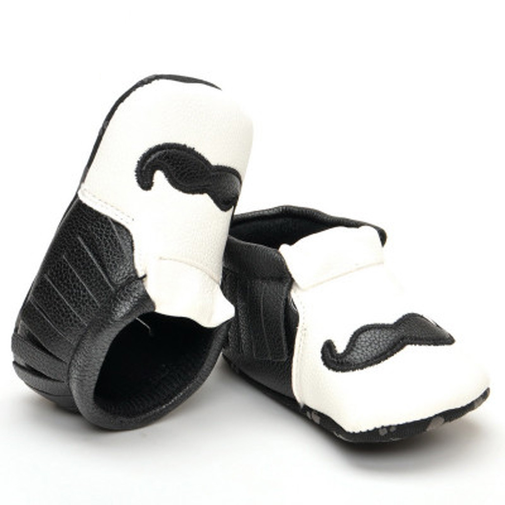 1Pair Hot sale New Cute beard Brand Pu leather Toddler Baby moccasins First walkers Spring Girls Boys Classics Baby shoes