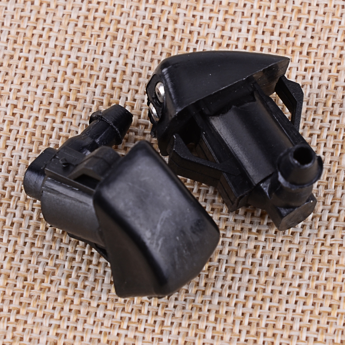 2pcs Car 2 Holes Front Windshield Wiper Water Washer Spray Jet Nozzle Spray Black Plastic Fit For <font><b>Mazda</b></font> <font><b>3</b></font> 5 6 <font><b>2006</b></font> 2007 2008 image