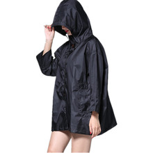 FreeSmily Japanese style wind short waterproof breathable cute Korean womens simple raincoat