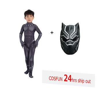 Kid Costume for boys Black Panther Costume NEW VERSION T'Challa cosplay costume Halloween Costume For Adult BP suit coslive new version bane jacket coat batman the dark knight rises cosplay costume for men adult