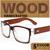 2016 Pies De Madera Maciza Enmarcan Llanura Gafas de Lente Transparente Gafas de Miopía Hombres Mujeres Gafas Marco gafas 5 Colores Gafas de Marco