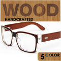 2016 Solid Wood Feet Glasses Frame Plain Clear Lens Myopia Glasses Men Women Eyeglasses Frame 5 Colors Eyewear Frame