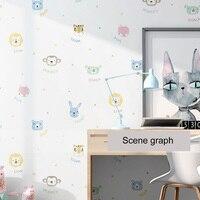 Wallpaper Self Adhesive Children Room Bedroom 3D animal Photo Wall Mural Living Room PVC Waterproof Vinyl Wall Papers Home Decor