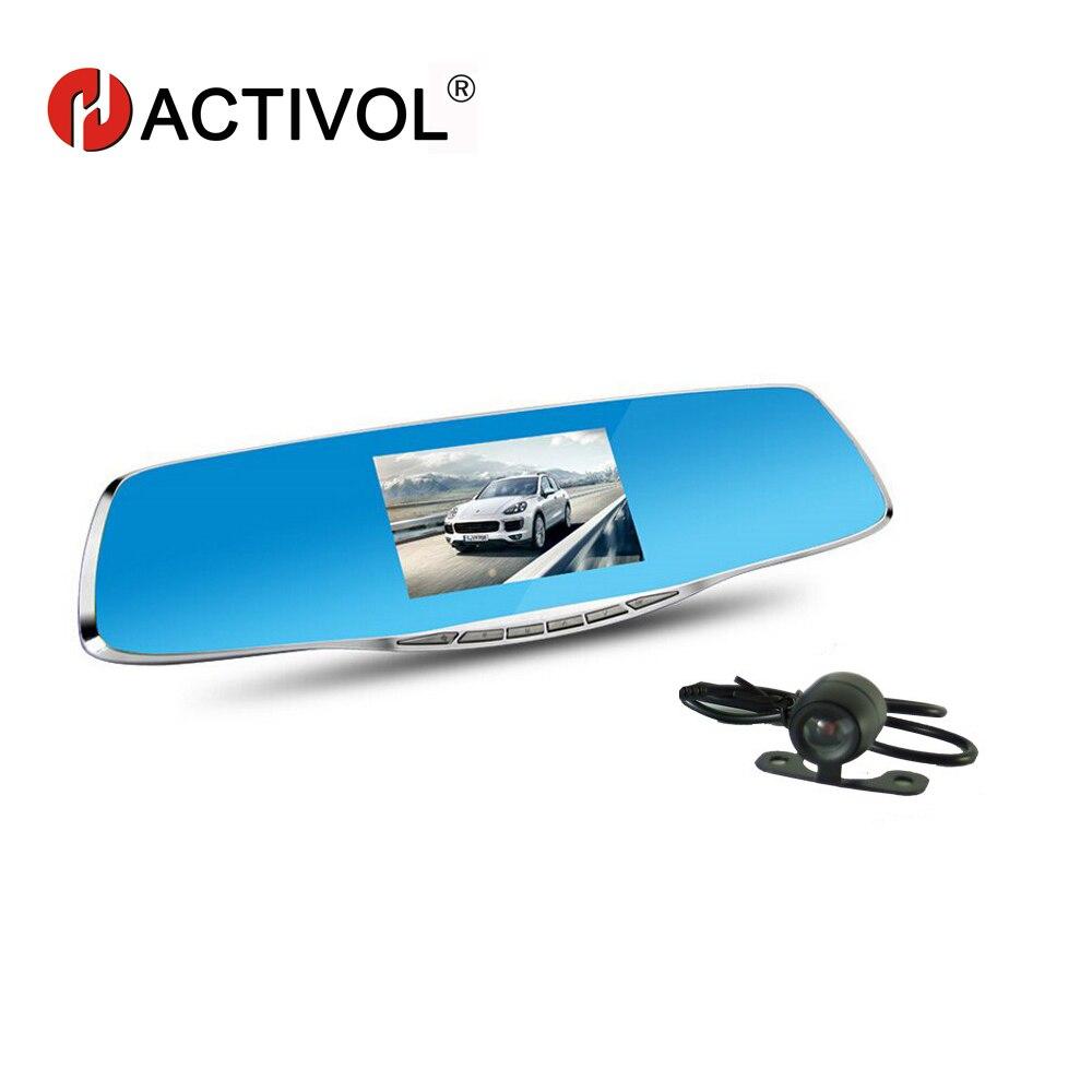Double lentille Vision nocturne voiture Dvr détecteur caméra bleu examen miroir DVR numérique enregistreur vidéo Auto caméscope Dash Cam FHD 1080 P