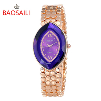BAOSAILI 2016 New Famous Brand Top Luxury Women Watches Fashion Stainless Steel Gold Wrist Watch Quartz