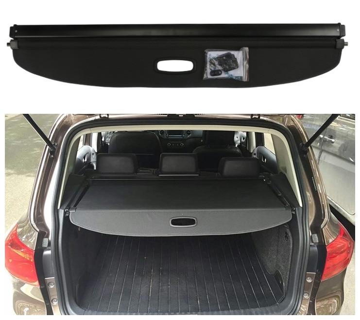 Black Rear Trunk Security Cargo Cover Shade for Volkswagen VM Tiguan 2009-2015